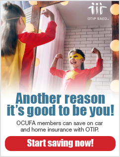 OCUFA members can save on car and home insurance with OTIP!